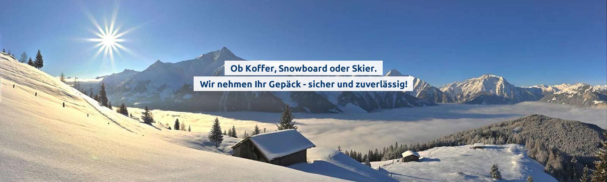 Sie entspannen und wir kümmern uns um Ihr Gepäck. Schweiz Österreich Südtirol